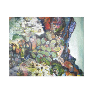 San felipe Landscape by Ruth Olivar Millan Canvas Print