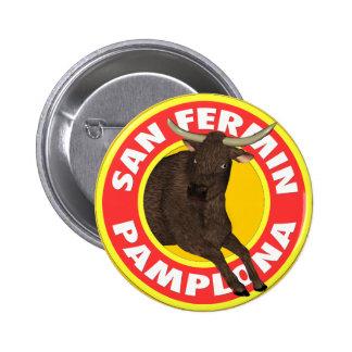 San Fermín de Pamplona Pin Redondo 5 Cm