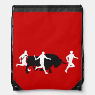 San Fermin, Pamplona: running with the bulls, Drawstring Bag