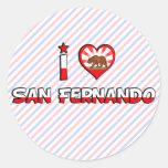 San Fernando, CA Round Stickers