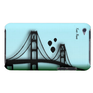 San Fran Bridge with Balloons Silhouette iPod Case iPod Touch Cases