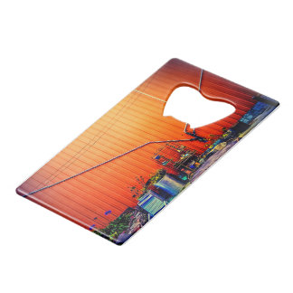 San Fran Sunrise Credit Card Bottle Opener