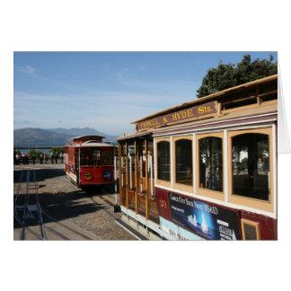 san fran trolley car greeting card
