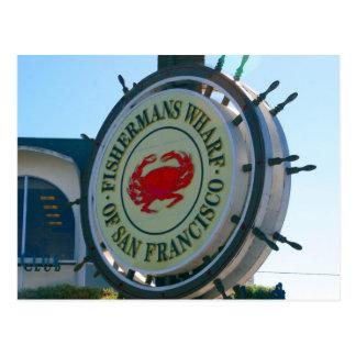 san fran wharf sign postcard