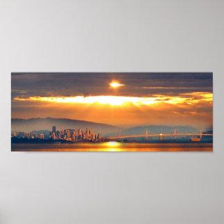 San Francico Sunset Poster