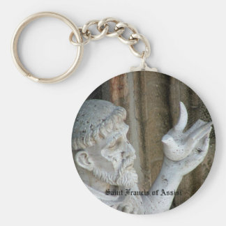 San Francis and the dove Keychain