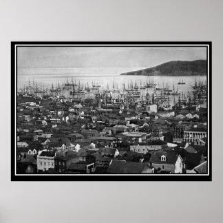 San Francisco 1851 vintage Photo Poster