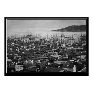 San Francisco 1851 vintage Photo Poster Poster