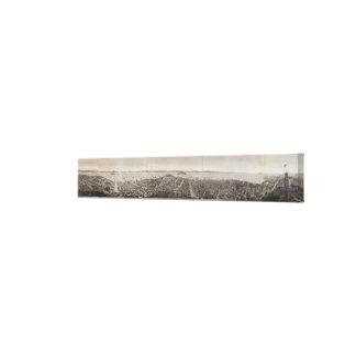 San Francisco 1862 de la colina rusa Impresión En Lona