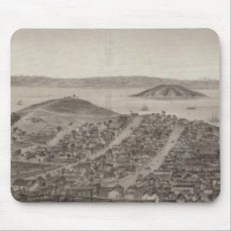San Francisco 1862 de la colina rusa Alfombrillas De Raton