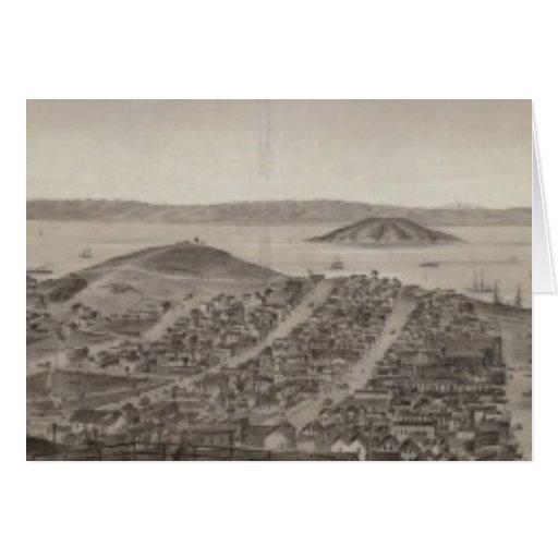 San Francisco, 1862 de la colina rusa Tarjeta De Felicitación