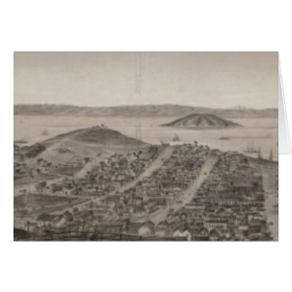 San Francisco, 1862 from Russian Hill Greeting Card