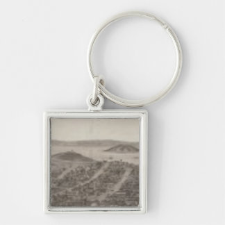 San Francisco, 1862 from Russian Hill Silver-Colored Square Keychain