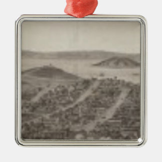 San Francisco, 1862 from Russian Hill Square Metal Christmas Ornament