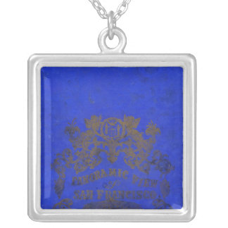 San Francisco, 1862 from Russian Hill Square Pendant Necklace