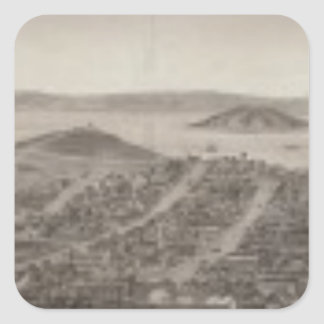 San Francisco, 1862 from Russian Hill Square Sticker