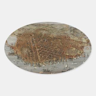 San Francisco 1878 Oval Sticker