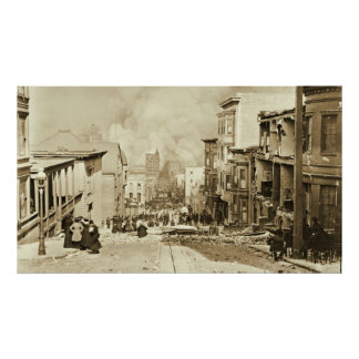 San Francisco 1906 Earthquake and Fire Poster