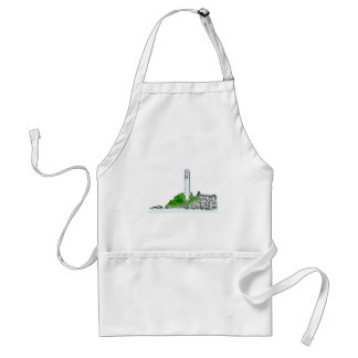 San Francisco 1986 Telegraph Hill The MUSEUM Zazzl Adult Apron