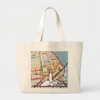 San Francisco 1986 Telegraph Hill The MUSEUM Zazzl Large Tote Bag