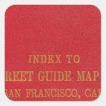 San Francisco 2 Calcomanías Cuadradass