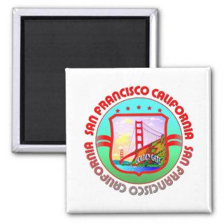 San Francisco 2 Inch Square Magnet