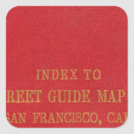 San Francisco 2 Square Sticker