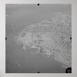 San Francisco - ` 49 de la bahía y del puente del  Poster