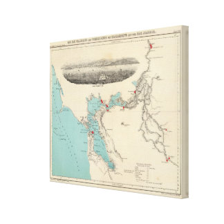 San Francisco a Sacramento Impresión En Lienzo
