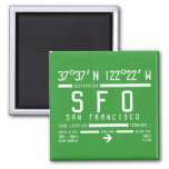 San Francisco Airport Code 2 Inch Square Magnet