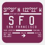 San Francisco Airport Code Sticker