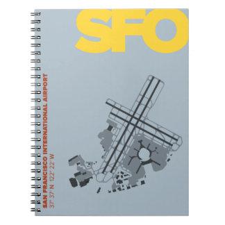 San Francisco Airport (SFO) Diagram Notebook