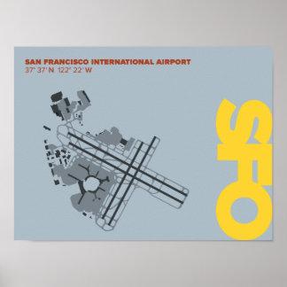 San Francisco Airport (SFO) Diagram Poster