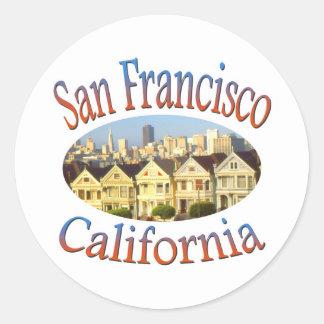 San Francisco Alamo Square Classic Round Sticker