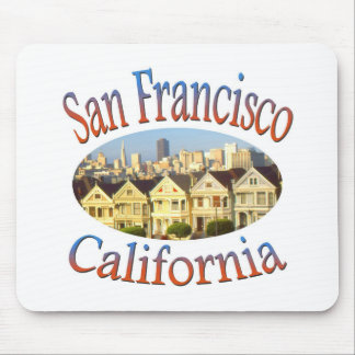 San Francisco Alamo Square Mouse Pad
