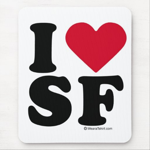 """SAN FRANCISCO - """"AMO SF"""" """"QUE AMO SAN FRANCISCO """" ALFOMBRILLAS DE RATONES"""