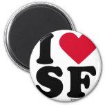 """SAN FRANCISCO - """"AMO SF"""" """"QUE AMO SAN FRANCISCO """" IMANES DE NEVERA"""