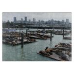 San Francisco and Pier 39 City Skyline Photography Cutting Board