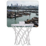 San Francisco and Pier 39 City Skyline Photography Mini Basketball Hoop