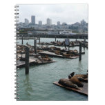 San Francisco and Pier 39 City Skyline Photography Spiral Note Book