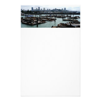 San Francisco and Pier 39 City Skyline Photography Stationery
