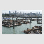 San Francisco and Pier 39 Rectangle Stickers