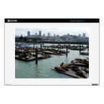 "San Francisco and Pier 39 Sea Lions City Skyline 15"" Laptop Skin"