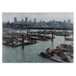 San Francisco and Pier 39 Sea Lions City Skyline Cutting Board