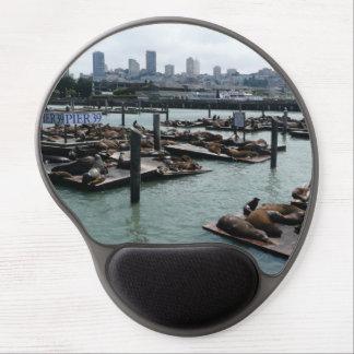 San Francisco and Pier 39 Sea Lions City Skyline Gel Mouse Pad