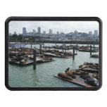 San Francisco and Pier 39 Sea Lions City Skyline Hitch Cover