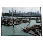 San Francisco and Pier 39 Sea Lions City Skyline Large Gift Bag