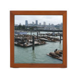 San Francisco and Pier 39 Sea Lions City Skyline Pencil Holder