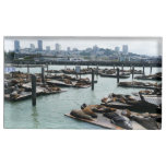 San Francisco and Pier 39 Sea Lions City Skyline Place Card Holder