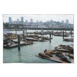 San Francisco and Pier 39 Sea Lions City Skyline Placemat